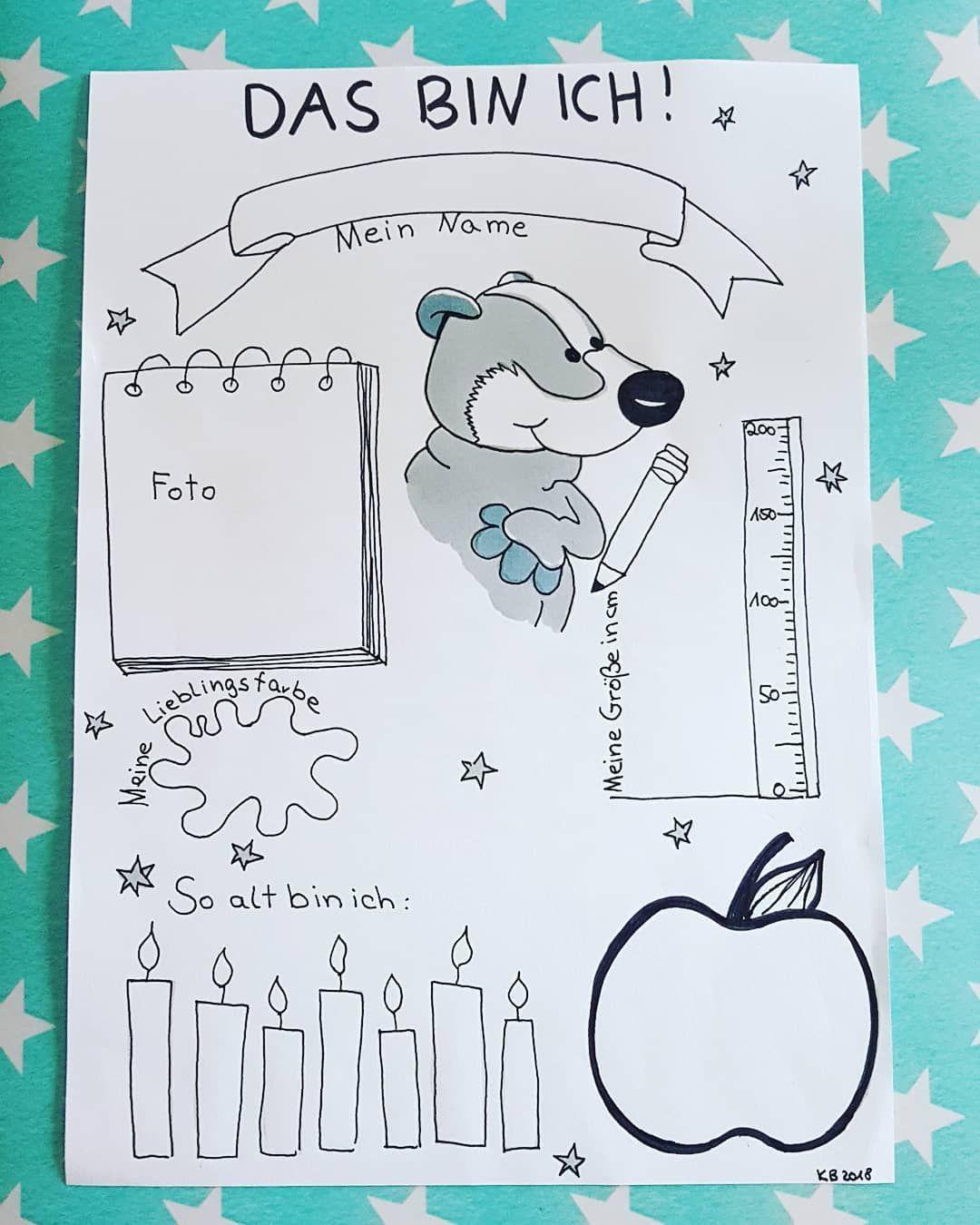 Das Bin Ich Zusammen Mit Dem Willkommensbrief Werde Ich Dieses Das Bin Ich Blatt In De Kindergartenbeginn Portfolio Kindergarten Projekte Im Kindergarten