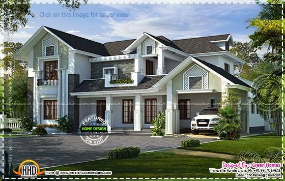 3580 Square Feet 4 Bedroom Luxury Western Style Villa Design By Green Homes Thiruvalla Kerala