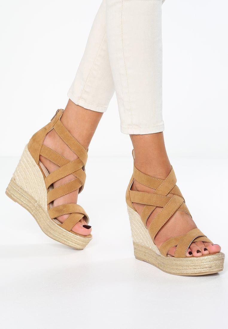 fc040d0ee10d7 s.Oliver Sandales compensées - nut - ZALANDO.FR   Wedge sandals ...