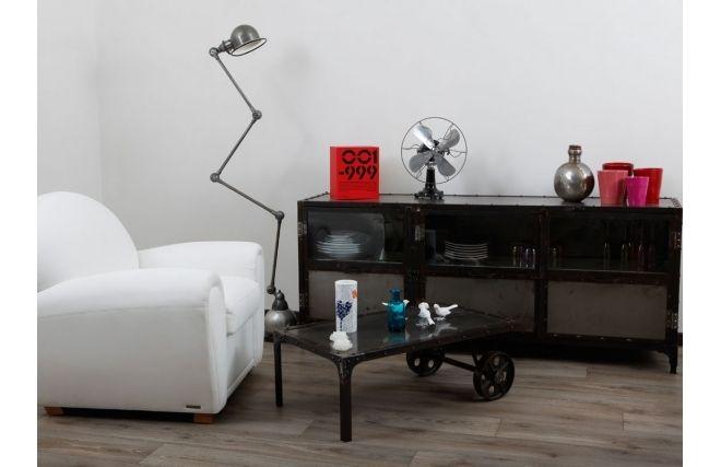 Table basse chariot en m tal industriel loft style indus et loft pinterest lofts and - Table basse metal industriel loft ...