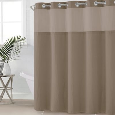 Hookless Waffle Fabric 54 X 80 Shower Curtain In Desert Taupe Fabric Shower Curtains Hookless Shower Curtain