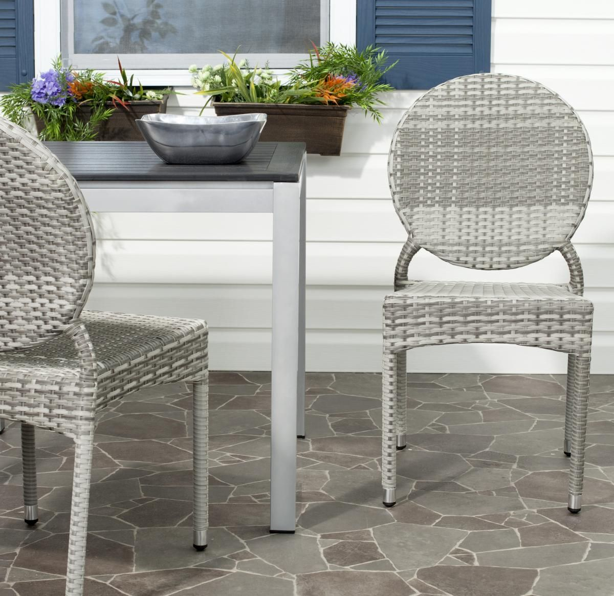 FOX5204B-SET2 Dining Chairs, Outdoor Dining Chairs, Outdoor Home ...