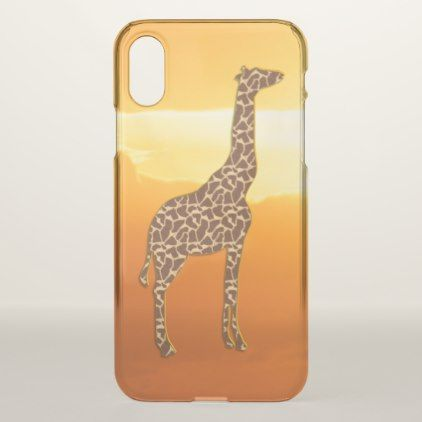 Giraffe 2 iPhone x case - animal gift ideas animals and pets diy customize