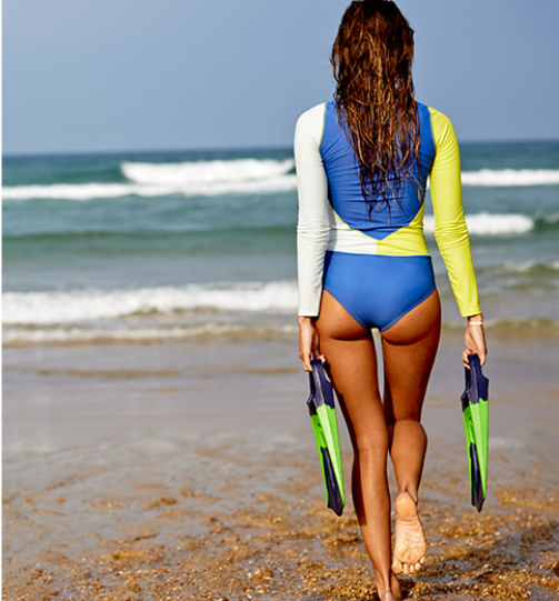 SUP's to the ready girls! This Roxy fitness rashguard will keep you active, looking good and protected from the sun all summer long.