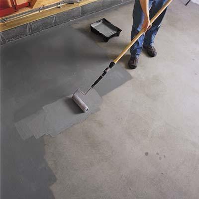 How To EpoxyCoat A Garage Floor - Peinture pour plancher de beton