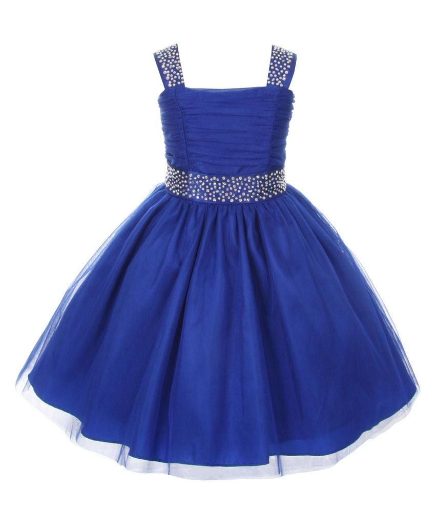 Details about Easter Dresses Sparkling Rhinestone Pageant Flower ...
