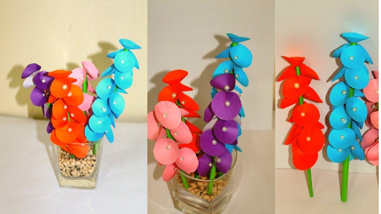 Beautiful Paper Flower Making | DIY | Paper Crafts | Home Decor Ideas | Paper Flower