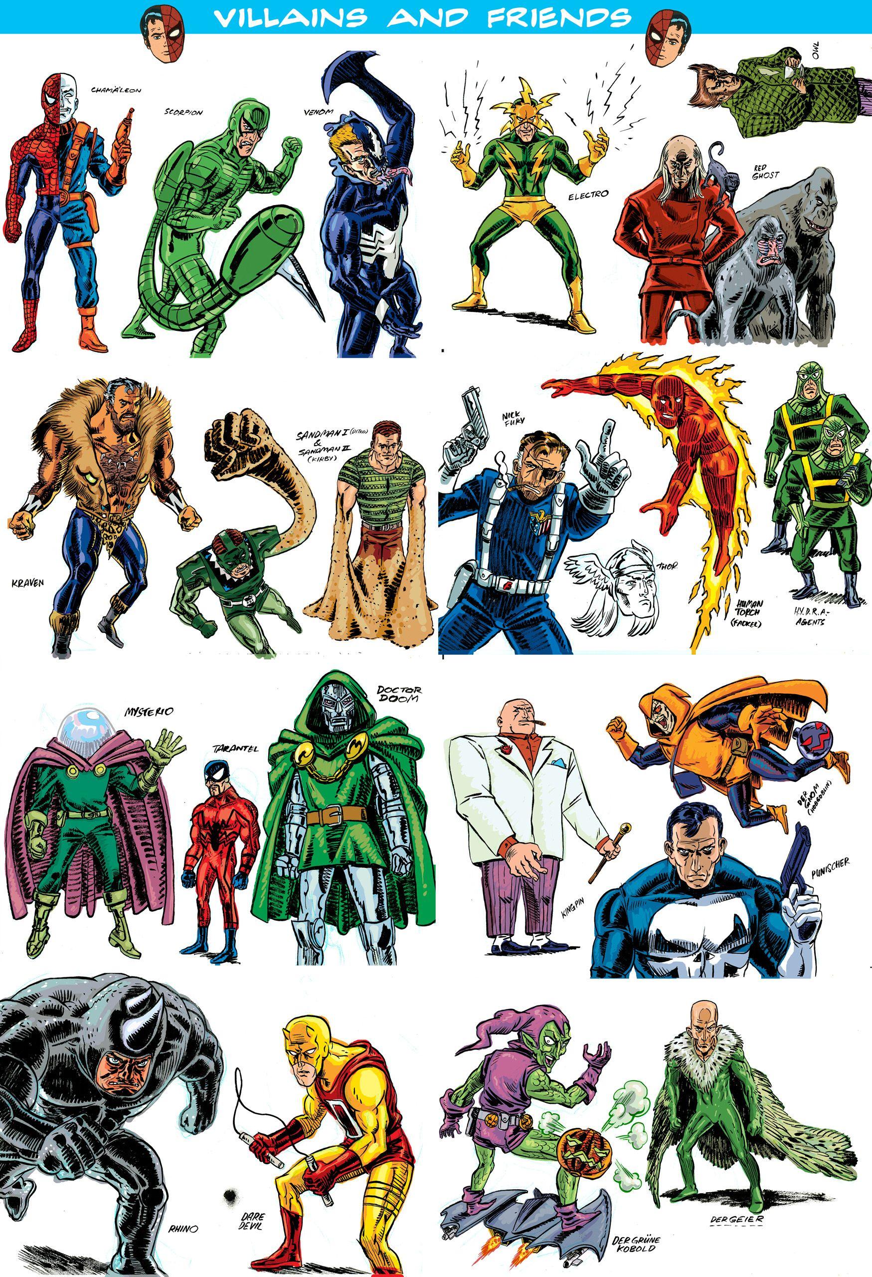spiderman villains Comic villains, Marvel villains