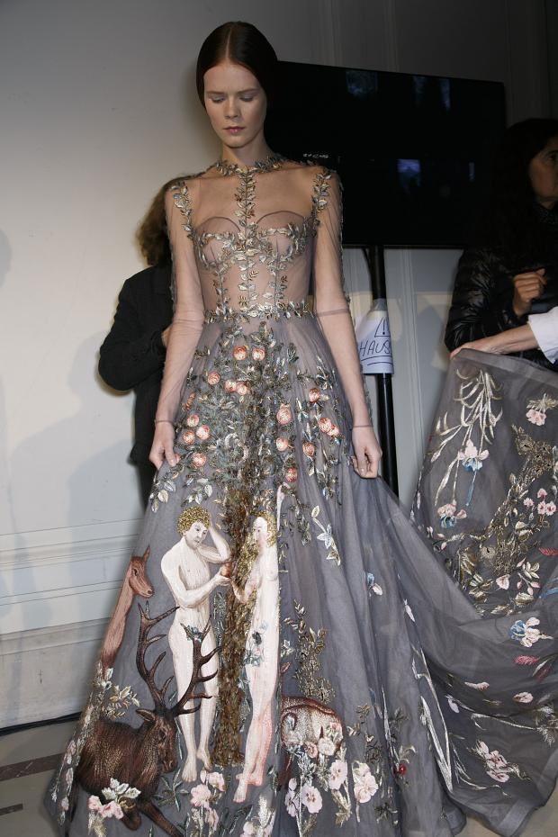 Valentino Spring 2014 Haute Couture backstage