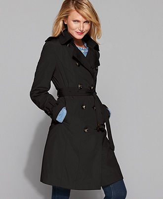 Black Trench From London Fog Petite Coat Womens Petite Coats Coats For Women