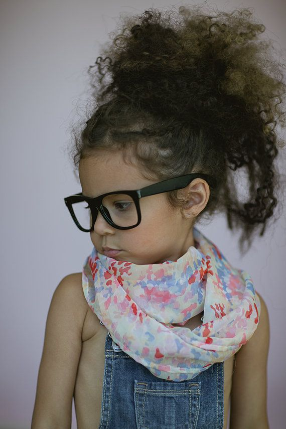 Little Girl's Infinity Scarf  Baby Scarves Floral by ThreeBirdNest, $28.00