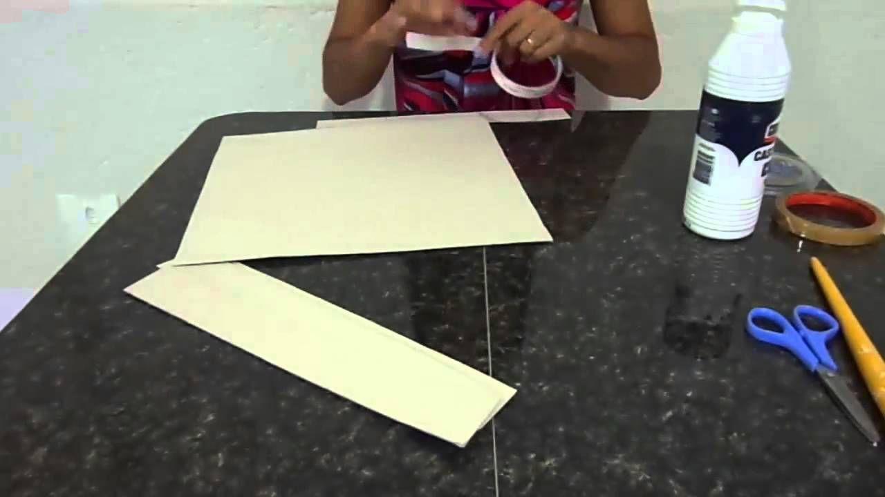 Caixa em papel paraná parte 1