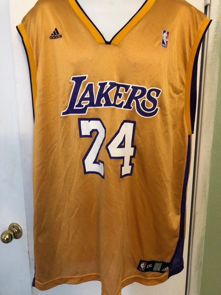 71c181522aa VTG Adidas Authentic Kobe Bryant #24 Los Angeles Lakers Jersey Size XXL 2XL  NBA #adidas #LosAngelesLakers