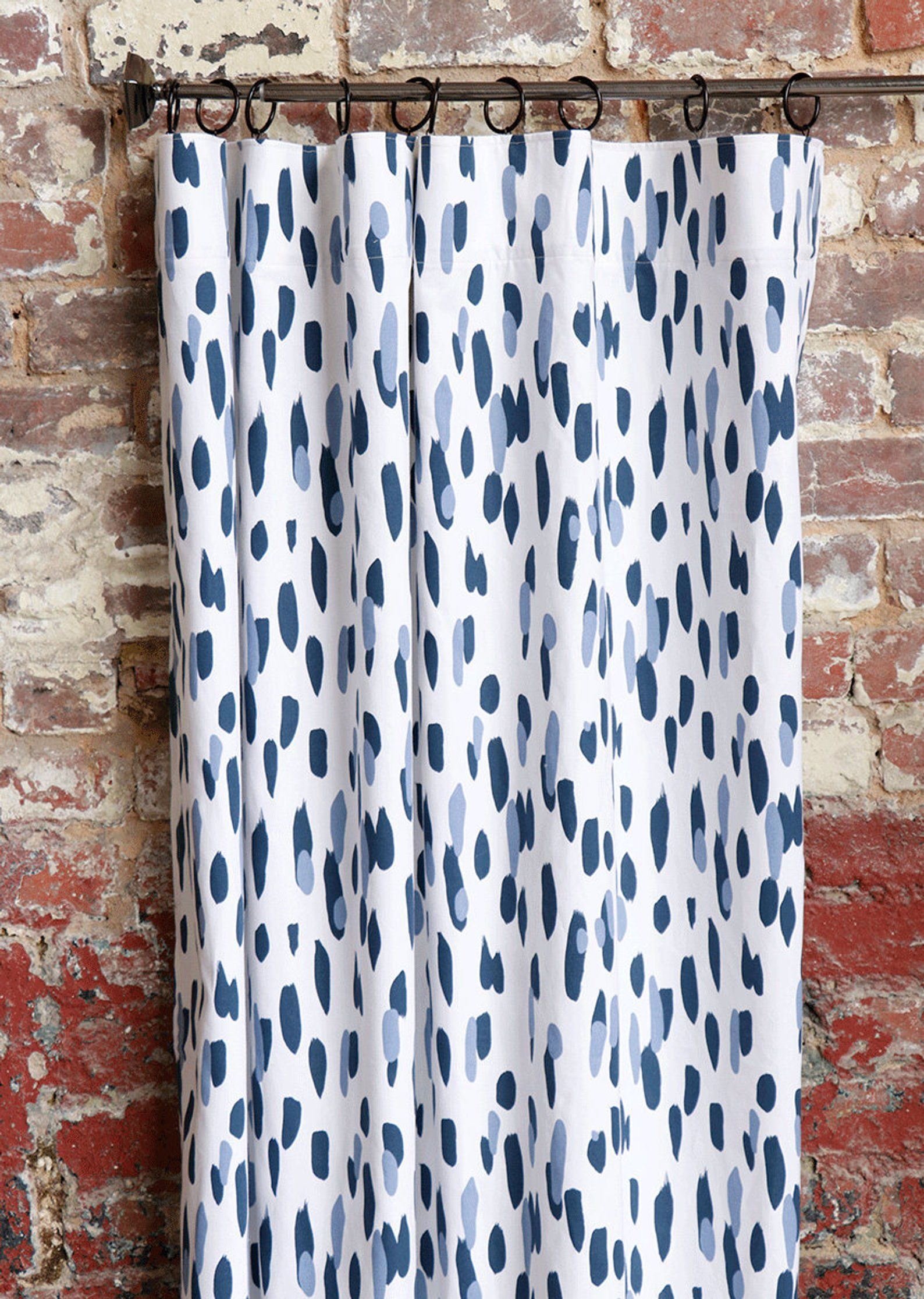 96 Inch Navy And White Curtains 4 More Lengths Navy And Etsy