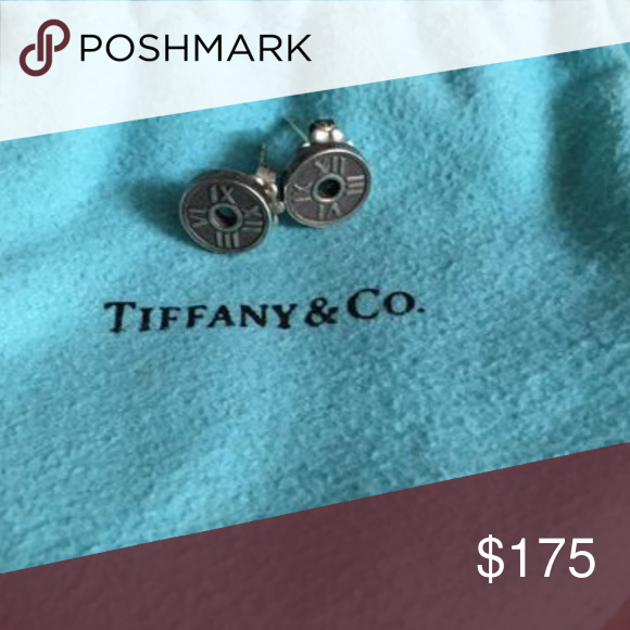 e1613f32cdb85 Tiffany & Co. Atlas Circle Stud Earrings Authentic. Atlas collection ...