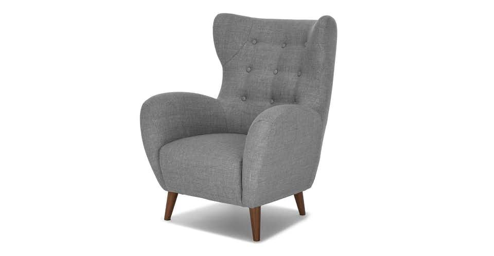 Mod Jay Gray Armchair Grey Armchair Green Armchair Fabric Lounge Chair