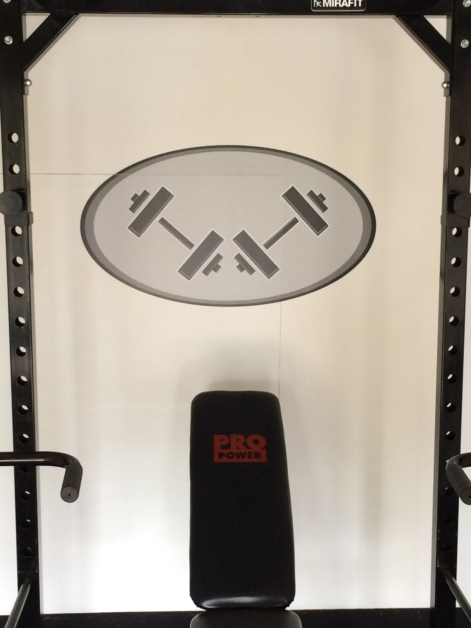 Recreation of existing fitness gym logo with a layered vinyl wall sticker