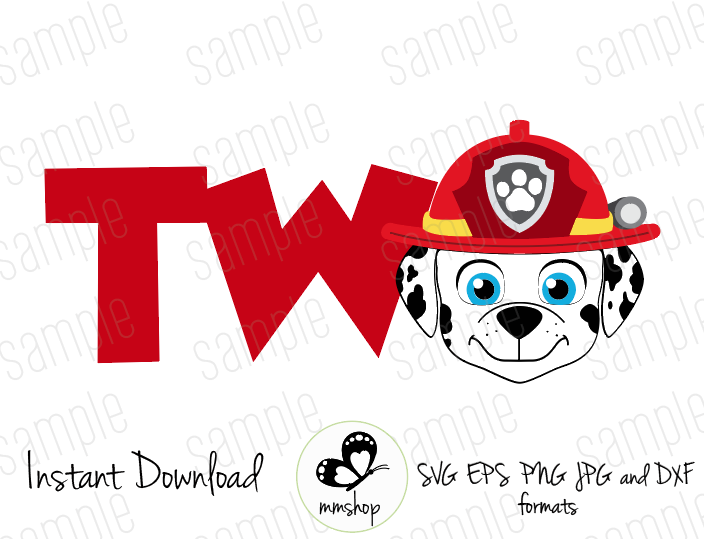 Two  Marshall  Paw Patrol  Instant Download  SVG FILES - Marshall paw patrol, Paw patrol birthday shirt, Paw patrol, Paw patrol birthday party, Paw patrol party, Paw patrol birthday - Cuttable Design Files (SVG, EPS, JPG, PNG) For Silhouette and Cricut  Please note this is a digital file  No physical items will ship in the mail  WHAT'S INCLUDED This listing containsone design as shown in the pictures above  You will receive a zipped folder containing this image in SVG, PNG, JPG and EPS format, which will be available to download after purchase  The watermark will be removed  INSTANT DOWNLOAD Your download link will be provided to you at the checkout  You will also receive a download link email after purchasing  Please note all orders are sent digitally; you will not receive any physical products in the mail  LICENSE INFORMATION For personal use  Due to this being a digital product there will be no returns  Thank you for visiting the store!!!