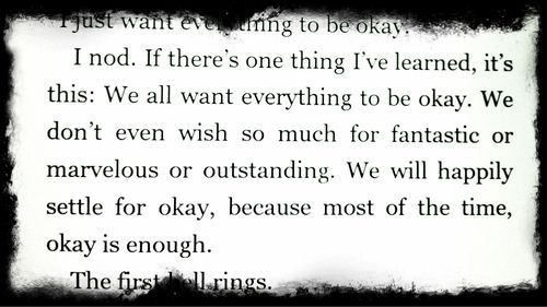 We All Want Everything To Be Okay From David Levithan S Every Day