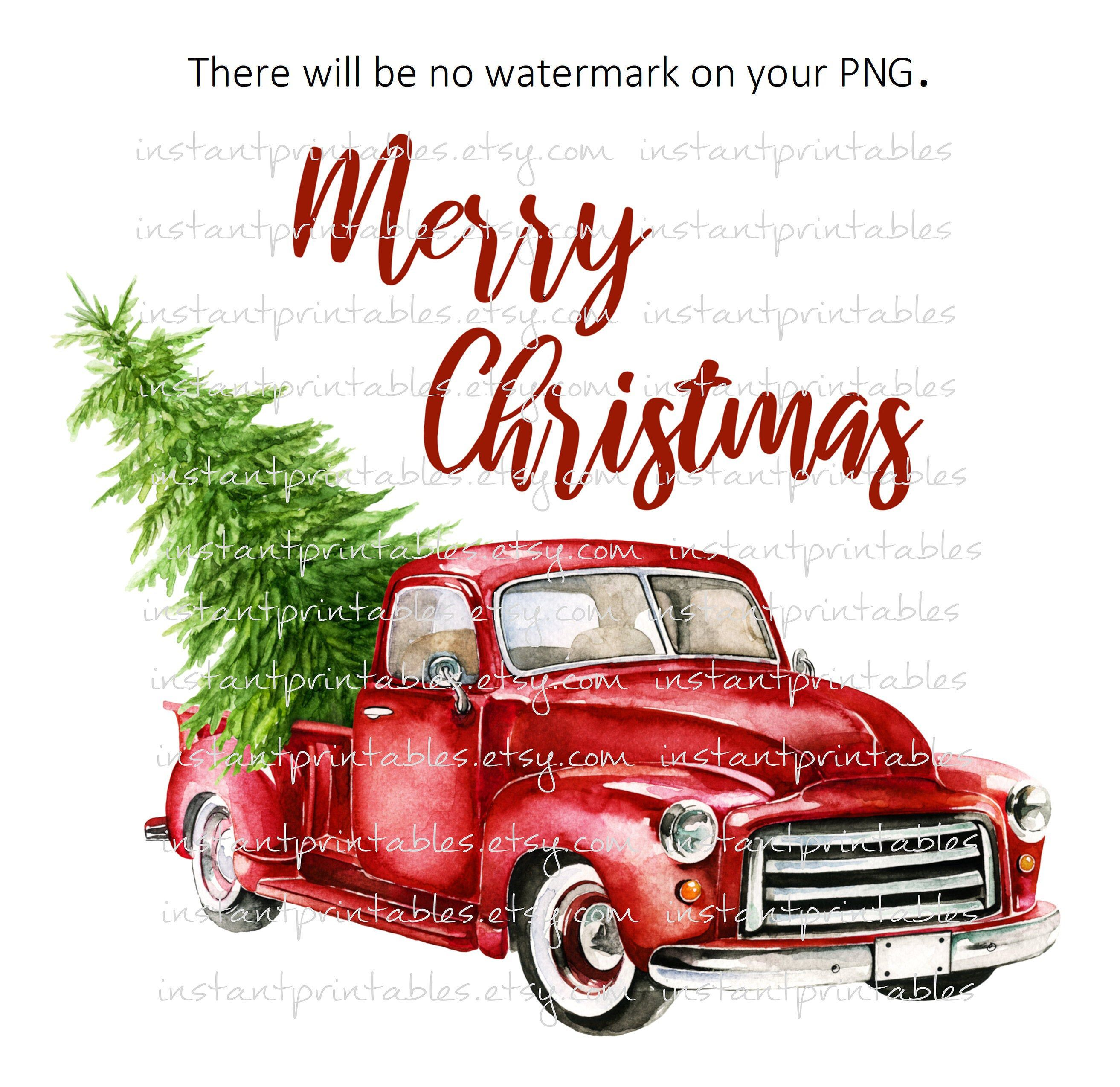 Sale Red Truck Png Christmas Truck For Sublimation Snow Etsy Christmas Truck Merry Christmas Vintage Vintage Christmas Tree