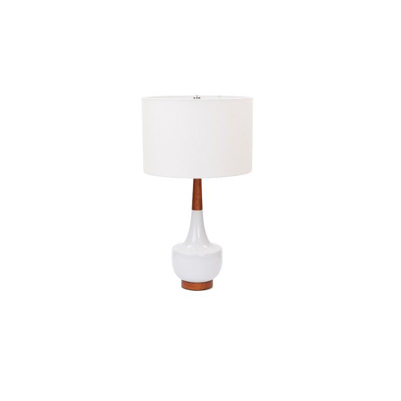 28 Inch White Ceramic And Wood Table Lamp In 2021 Table Lamp Wood Table Lamp Lamp