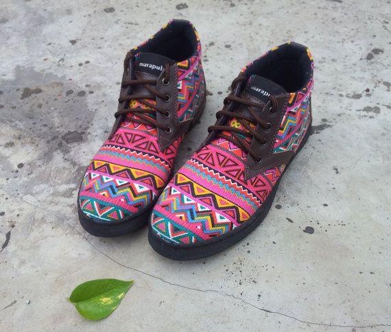 15aae9d3af63b pink women shoes ethno Ikat canvas handmade Marapulai colorful ankle ...