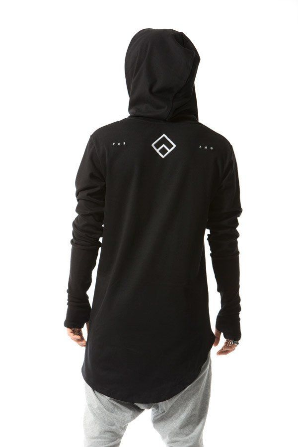 da23292d Central - hoodie - black | Future Black / Techwear | Mens clothing ...