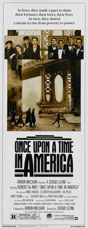 once upon a time IN AMERICA vintage movie poster ROBERT DE NIRO NYC 24X36
