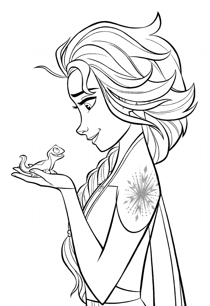 Frozen 2 Free Coloring Pages With Elsa Coloring In 2020 Disney Princess Coloring Pages Elsa Coloring Pages Disney Coloring Pages