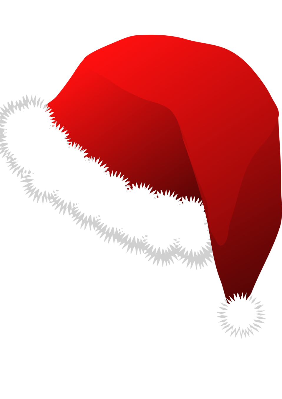 Free Stock Photo Illustration of a red santa hat