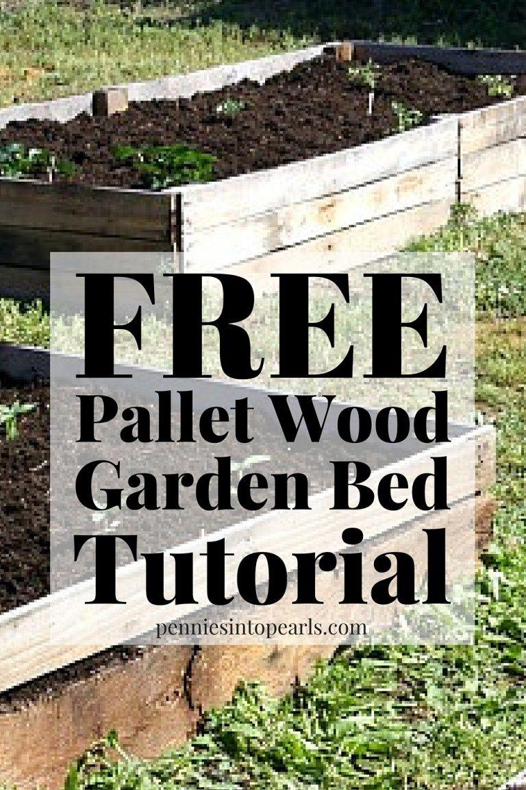 Diy Pallet Wood Raised Garden Beds Pallets Garden Raised Garden