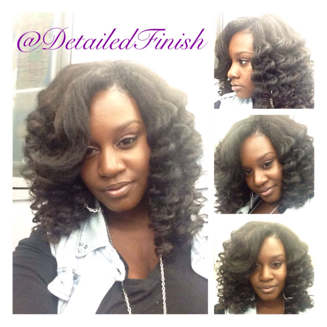 Side part wand like curls and a swoop bang looks so natural side part wand like curls and a swoop bang looks so natural love it marley hair detailedfinish crochet weave crochet braids invisible part pmusecretfo Image collections