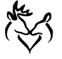 Download Winter | Deer head silhouette, Deer stencil, Buck and doe