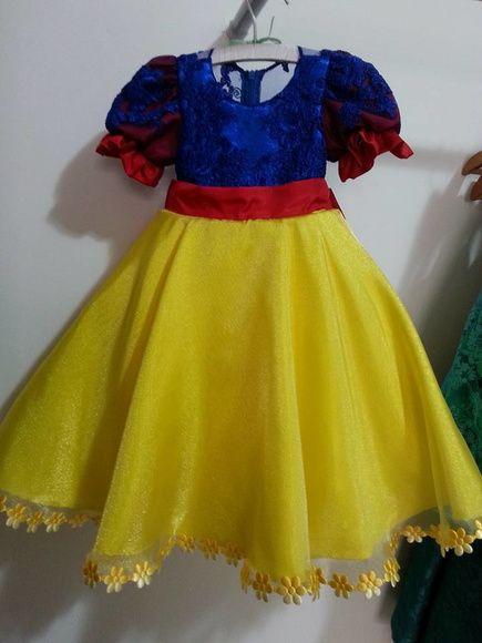 e78d0defdd94 Vestido Branca de neve … | snow white birthday & beauty and the ...