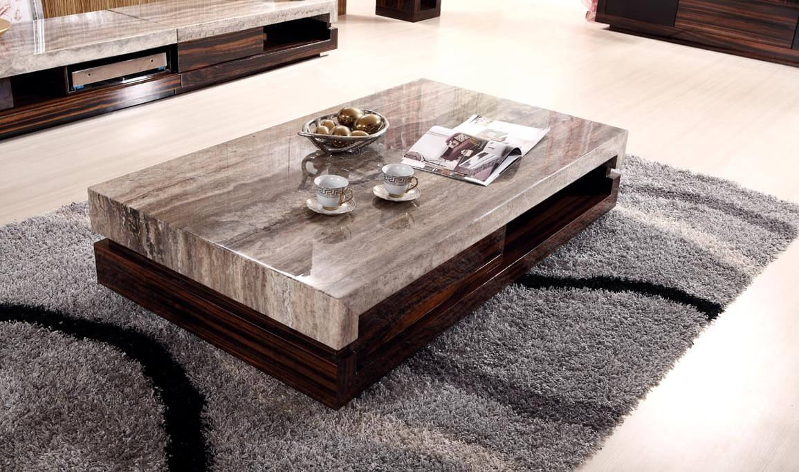 Furniture Black Granite And Glass Coffee Table On Table Coffee
