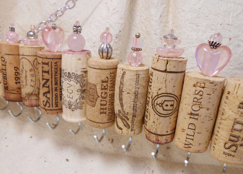 Sostenedor de la joyería de corcho del vino por CinTinque en Etsy