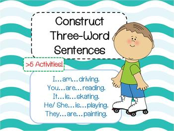 Construct 3 words Sentences eg  He is driving (Flashcards, Games