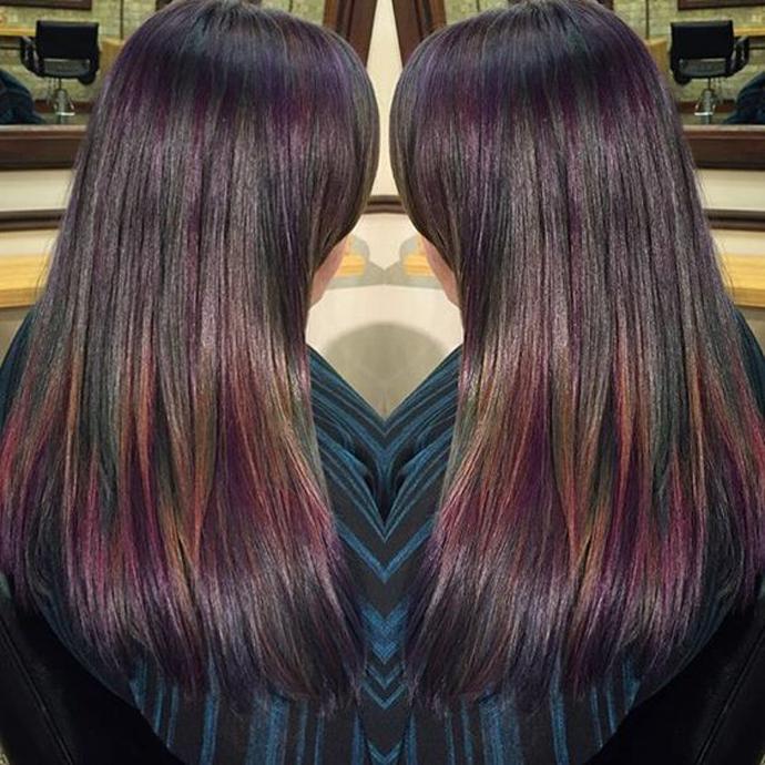 d539cbc9b1980c Hot color trend  oil slick hair