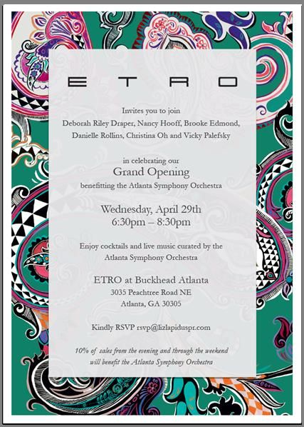 ETRO invitation card - Google 検索 party room Pinterest - fresh invitation card to chief guest