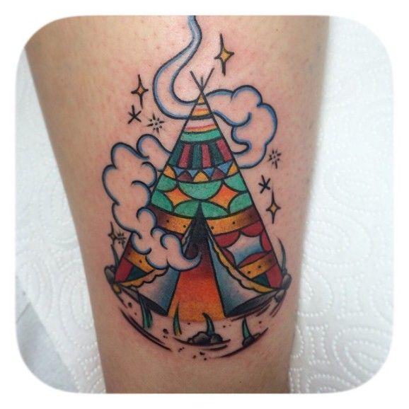 15 Nomadic Tipi Tattoos   tattoos luv   Tattoos, Americana