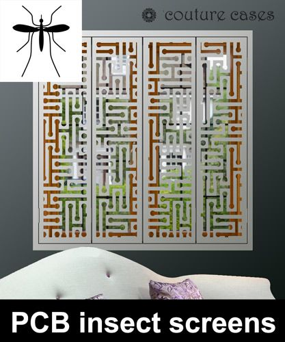 Decorative window shutters with insect and mosquito screens for