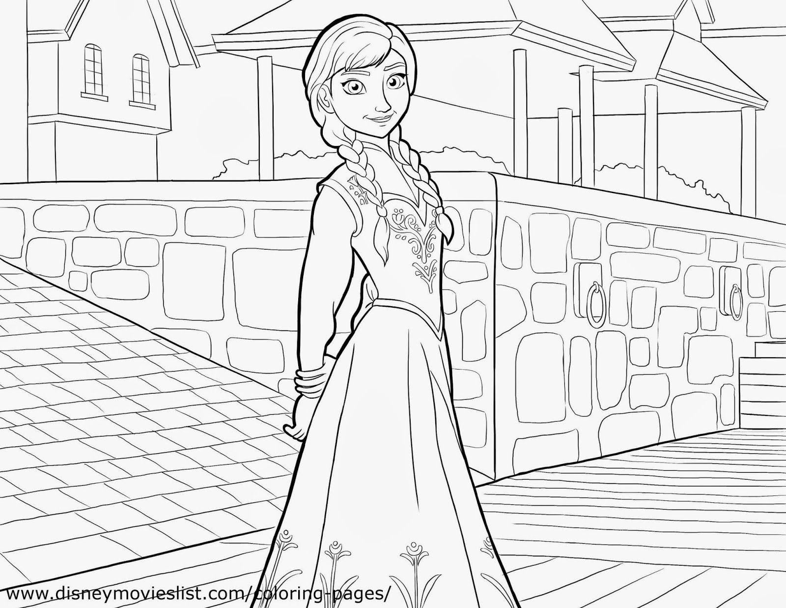 Frozen: Imágenes de Ana para Colorear, para Imprimir Gratis ...