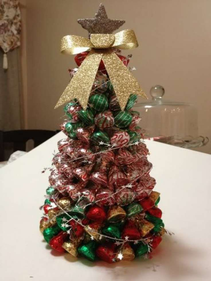 bellas ideas para navidad con chocolates kisses de hershey's
