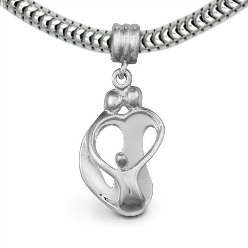 Loving Family Sterling Silver Heart Charm Parents and ...