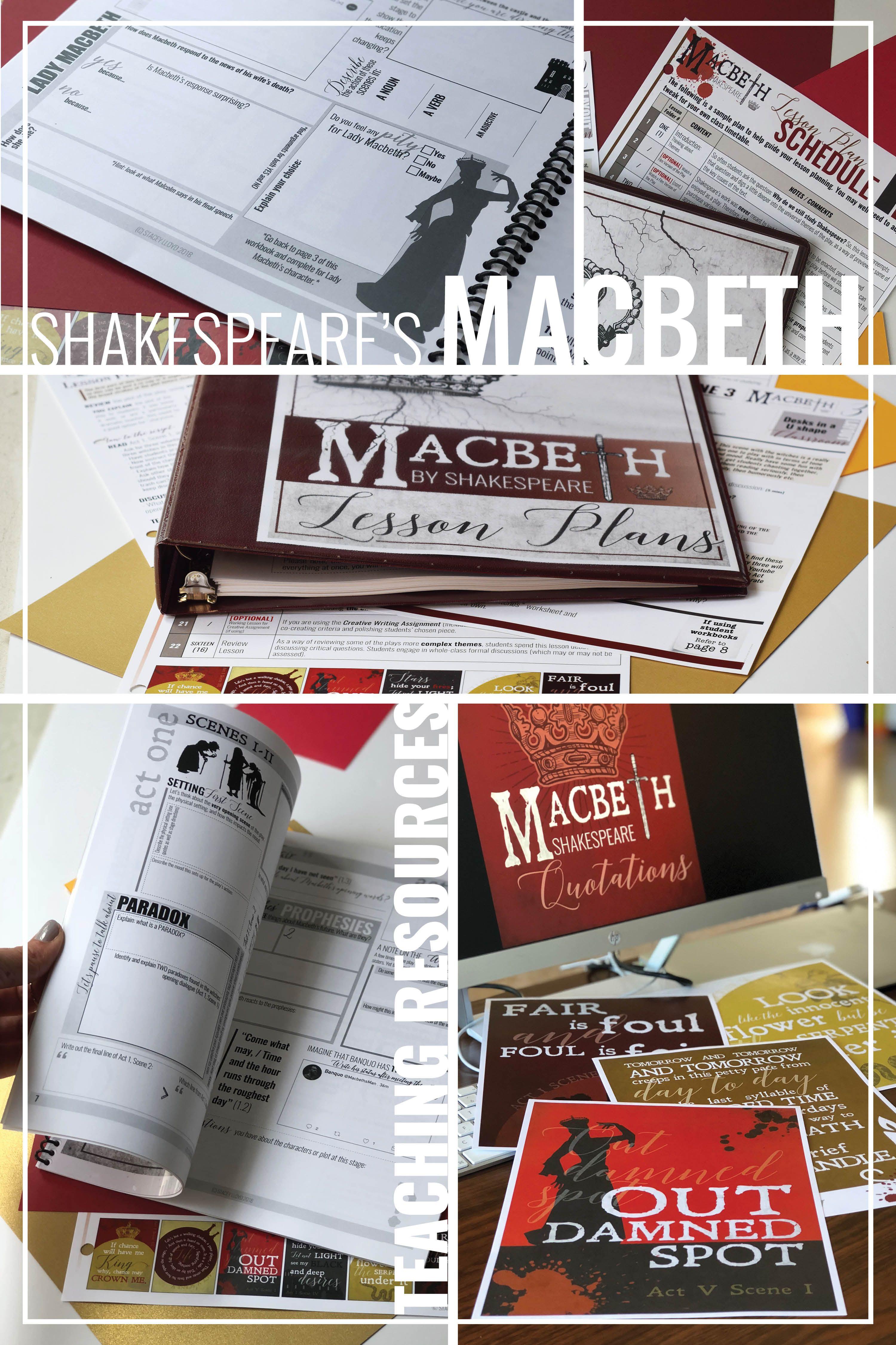 Teaching Shakespeare S Macbeth Lesson Plans Worksheets
