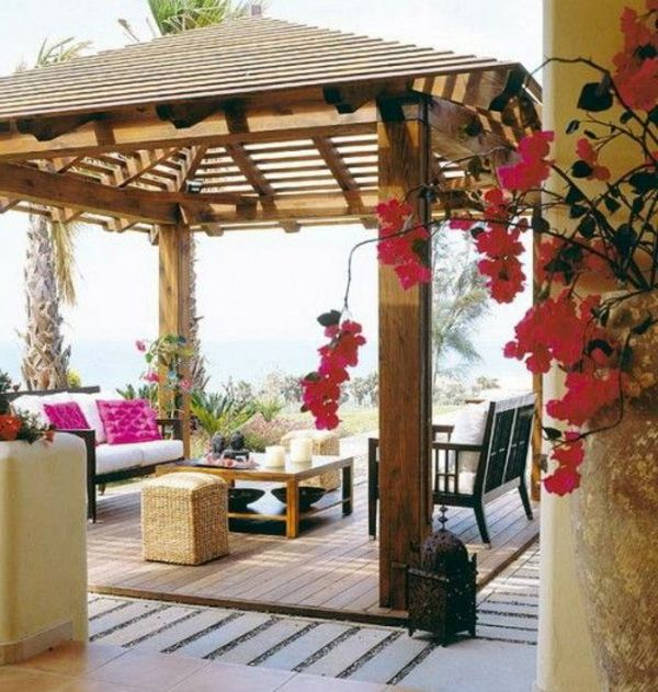 berdachte terrasse 50 top ideen f r terrassen berdachung garten berdachung terrasse. Black Bedroom Furniture Sets. Home Design Ideas