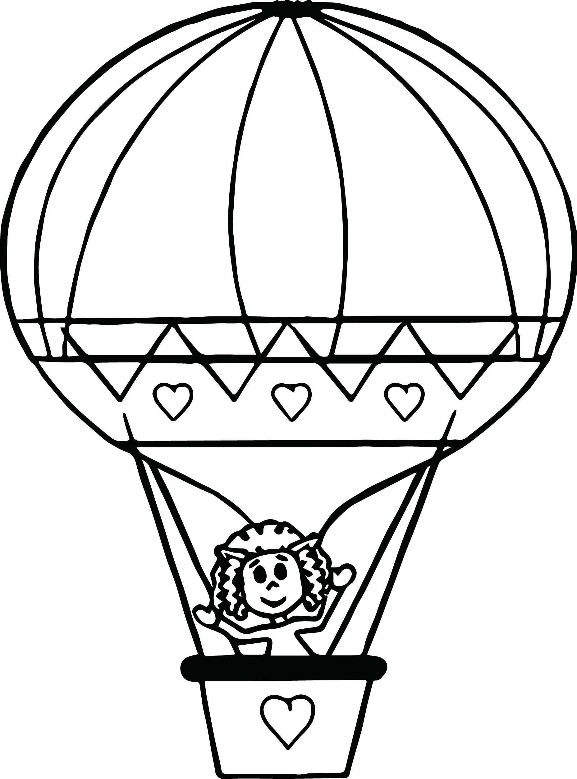 Hot Air Balloon Coloring Page Beautiful Coloring Pages Of Air