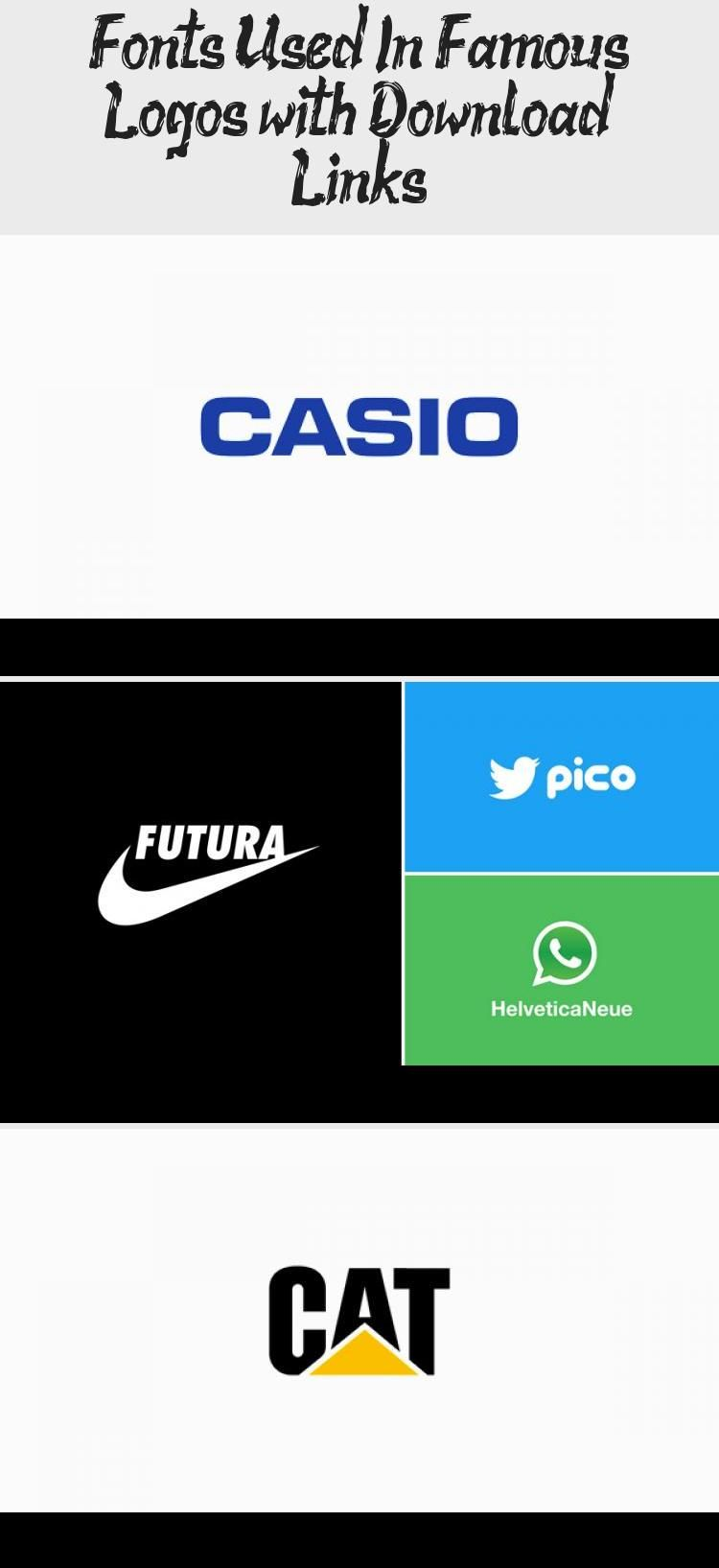 Fonts Used In Famous Logos With Download Links In 2020 With Images Famous Logos Company Logo Logos