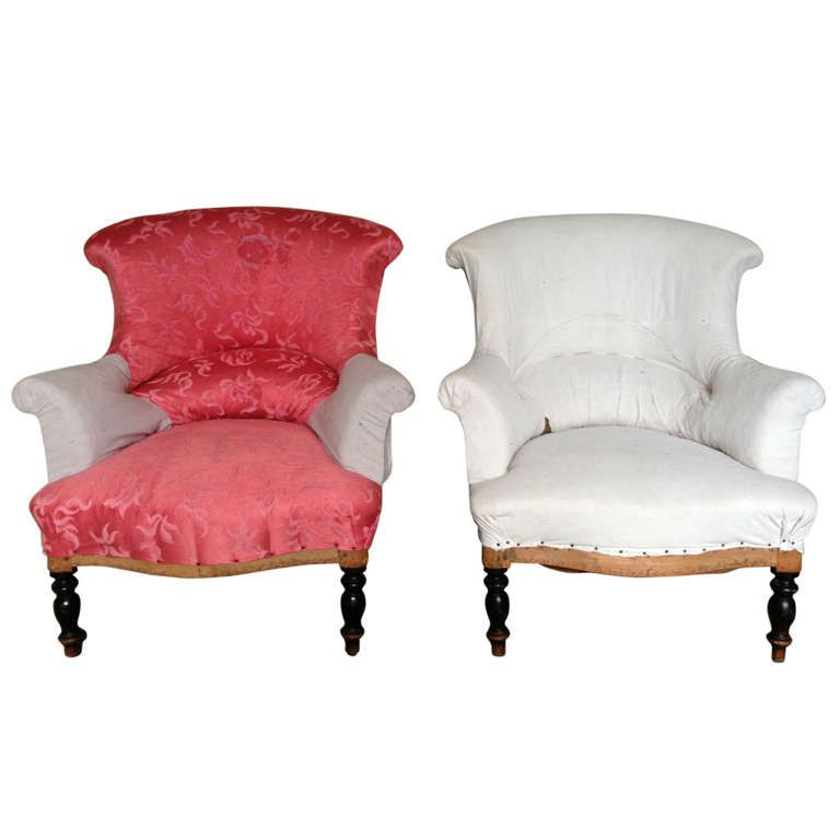 A Pair Of Napoleon Iii Armchairs Armchair Vintage Arm Chairs