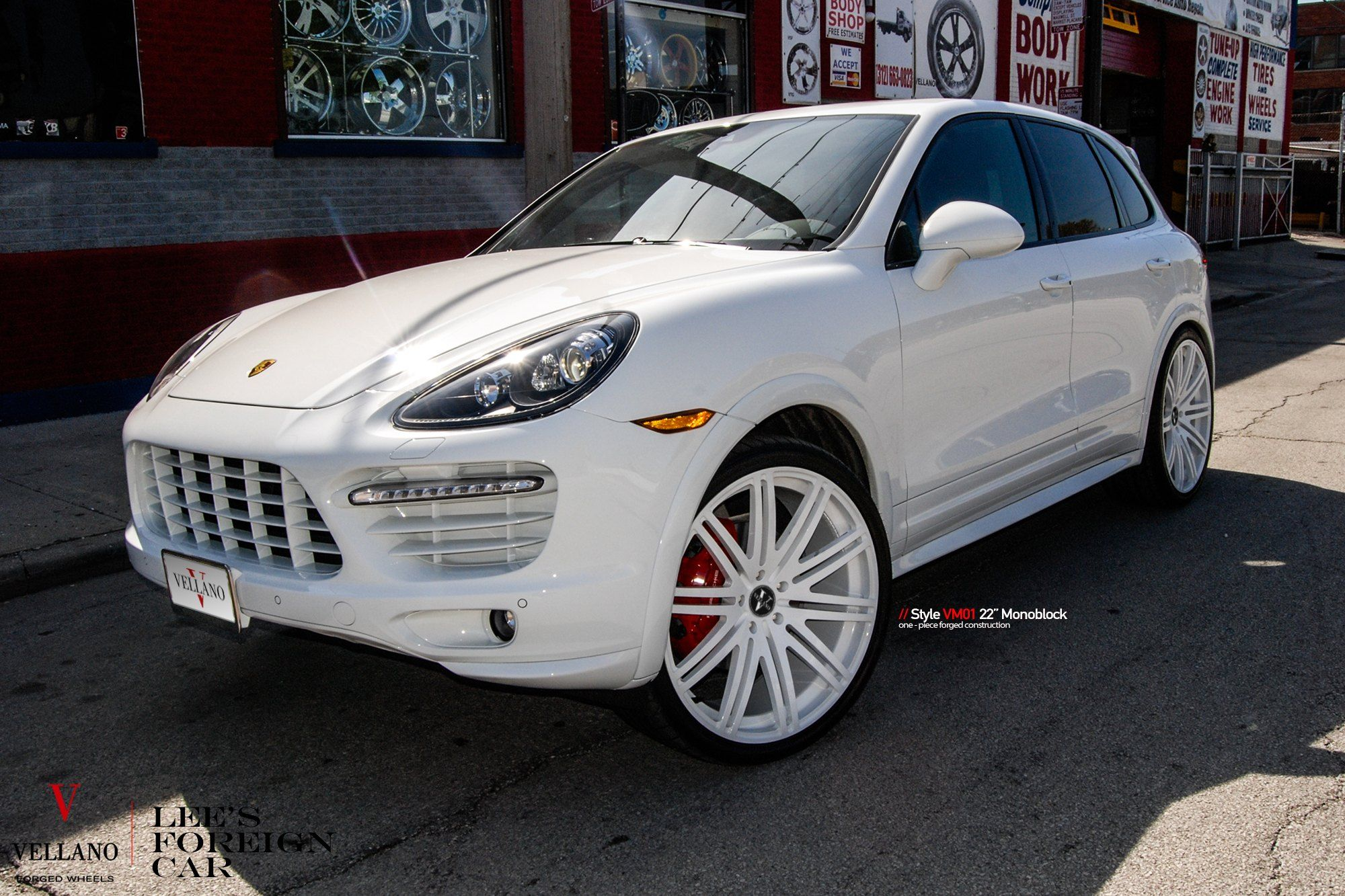 White On White Porsche Cayenne On Color Matched Rims Porsche Cayenne Porsche Mom Car